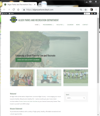 Image of APRD's new home page