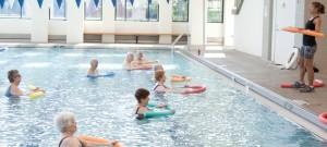 Water aerobics in pool